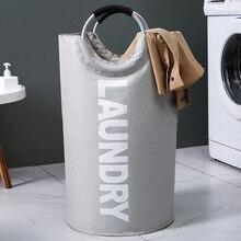 Bags Laundry-Basket-Cylinder Big-Volume-Organizer Washing-Dirty Folding Nordic Large