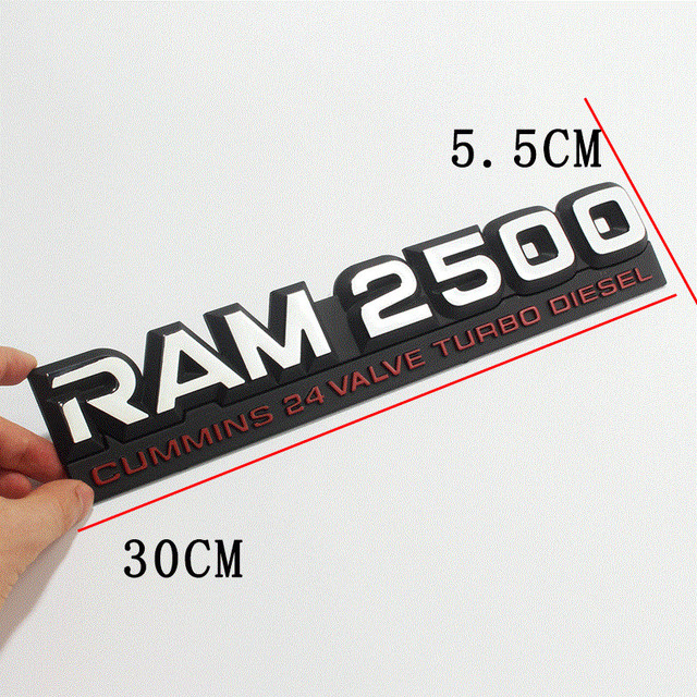 3D Car Rear Stickers Exterior for RAM Emblem Badge Car Styling for Dodge RAM Nitro Challenger Ram 1500 Durango Caravan Caliber 4
