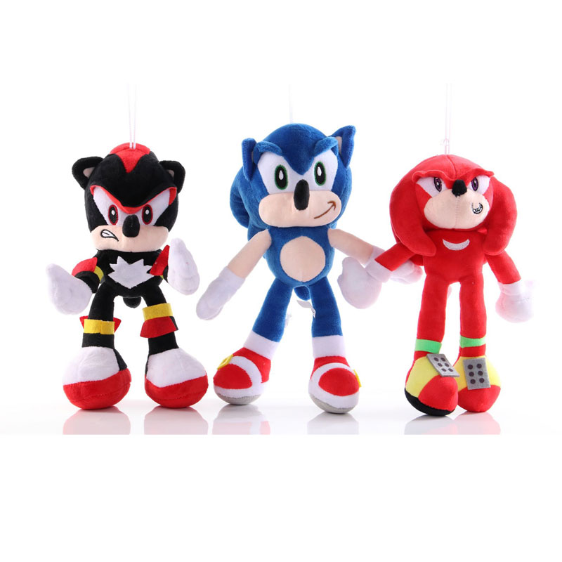 Ohmetoy Sonic Shadow The Hedgehog Knuckles The Echidna Soft Stuffed Plush Toys Doll Kids Children Gifts Anime Brinquedos 25 28cm Movies Tv Aliexpress