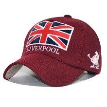 Snapback Hat Baseball-Cap Liverpool Winter Gorras Felt-Bone Women with England-Flag