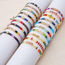 Go2boho Miyuki Tila Bracelet For Women Evil Eye Jewellery Cross LOVE Pulseras Gift CZ Jewelry Rhinestone Bracelets Wholesale
