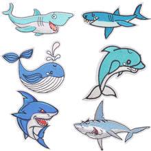 Патч с изображением дельфина акулы на лето нашивки для одежды