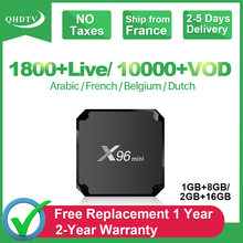 X96 Mini Android 7.1 France IPTV Arabic QHDTV Box 2G+16G S905W Italy French Belgium Netherlands 4K Subscription
