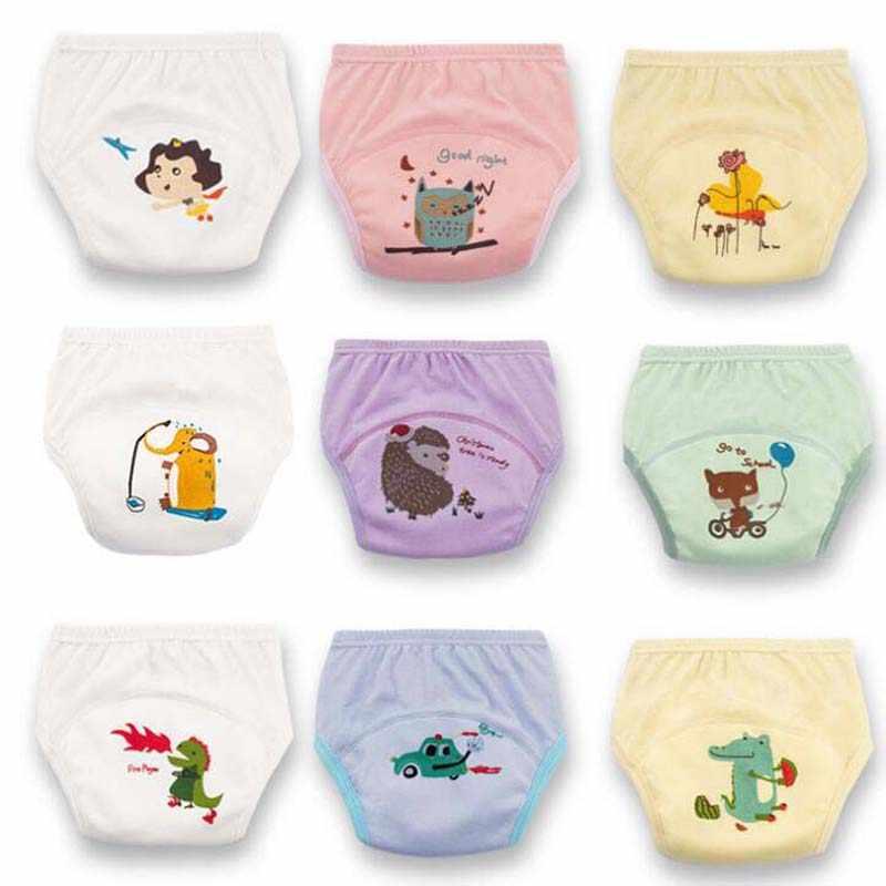 1 قطعة قابلة لإعادة الاستخدام الطفل سروال التدريب طفل أطفال رخيصة حفاضات سراويل الوليد الرضع الملابس الداخلية