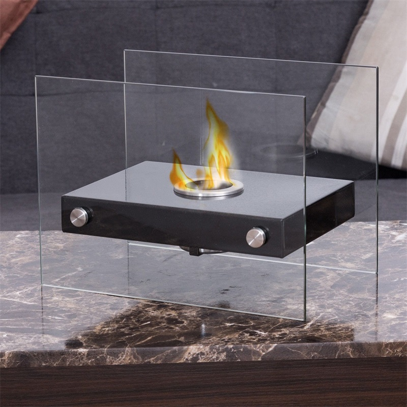 Portable Ventless Firepit Bio Ethanol Tabletop Fireplace Eco-friendly Ventless That Burns Ethanol Fireplace Fuel Fireplaces