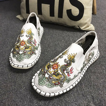 Embroidered Harajuku Espadrilles Loafers Couple Shoes Women