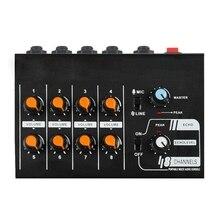 Mischen Konsole Professionelle 8-Kanal Tragbare Mixer Untere Lärm mit Reverb Wirkung für Home Karaoke Live Bühne BIN- 232 (EU Stecker