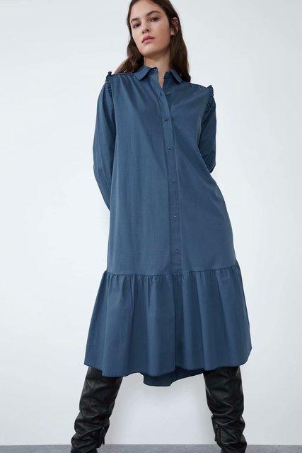 2020 Spring Summer New zaraing women Shirt Dress vadiming sheining female dress sexy vintage plus size clothes Cdc9522 1