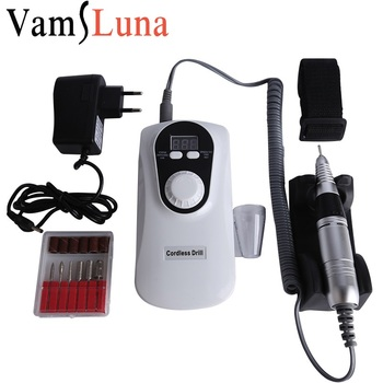 Strong LCD Digital 35000 RPM Rechargeable Electric Nail Drill Machine Nail File Art Equipment For Manicure Pedicure With Cutter