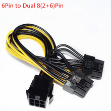 Power-Supply Cable Graphics-Card PCIE Miner 6pin GPU Pin-Y-Splitter Pci-Express Dual-2x8pin