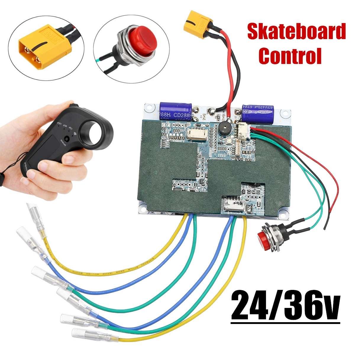 24V/36V Electric Skateboard Controller Longboard Remote Dual Motors W/ Remote ESC Substitute Parts Scooters Skate Board Accessor
