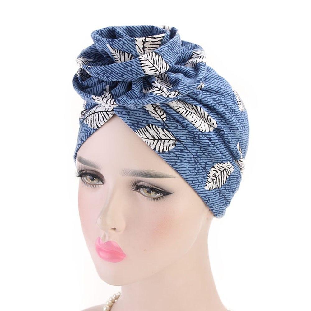 Elegant Cotton Flower Turban Women Beanie Chemo Cap Turbantes