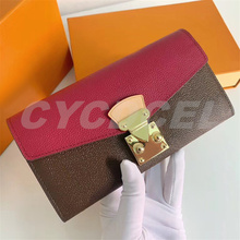 Najwyższa jakość luksusowy Design moda wielofunkcyjny PaIIas portfel damski moneta torebka damska etui na karty kredytowe torebka z uchwytem z pudełkiem tanie tanio CN (pochodzenie) 2 5cm litera 11cm Klipsy do banknotów 19cm Unisex