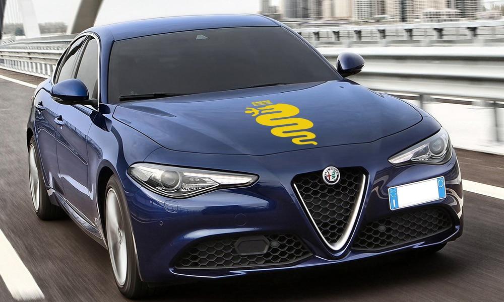 Накладка на капот автомобиля наклейки сделай сам Автомобильная виниловая пленка наклейки для Alfa Romeo Giulia Giulietta 147 156 159 166 автомобильные принадлежности для тюнинга