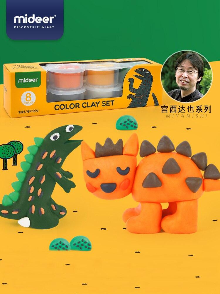 midedeer criancas modelagem argila slime aprendizagem educacao diy plasticina brinquedos kit de ferramentas 3 anos de