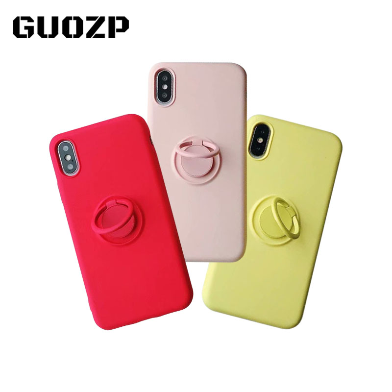 Soft Silicone phone Case For iPhone 11 Pro iPhone11 XS Max 6Plus 7Plus 8Plus XR X 7 8 6 S 6S Plus Ring Holder Stand cute Back(China)