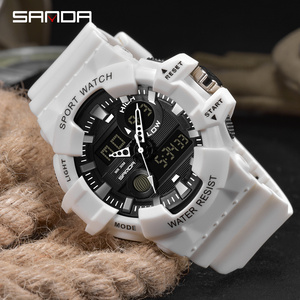 Image 5 - SANDA Sports Mens Watches Luxury LED Digital Military Quartz Watch Men Waterproof G Style Wristwatches relogio masculino Clock
