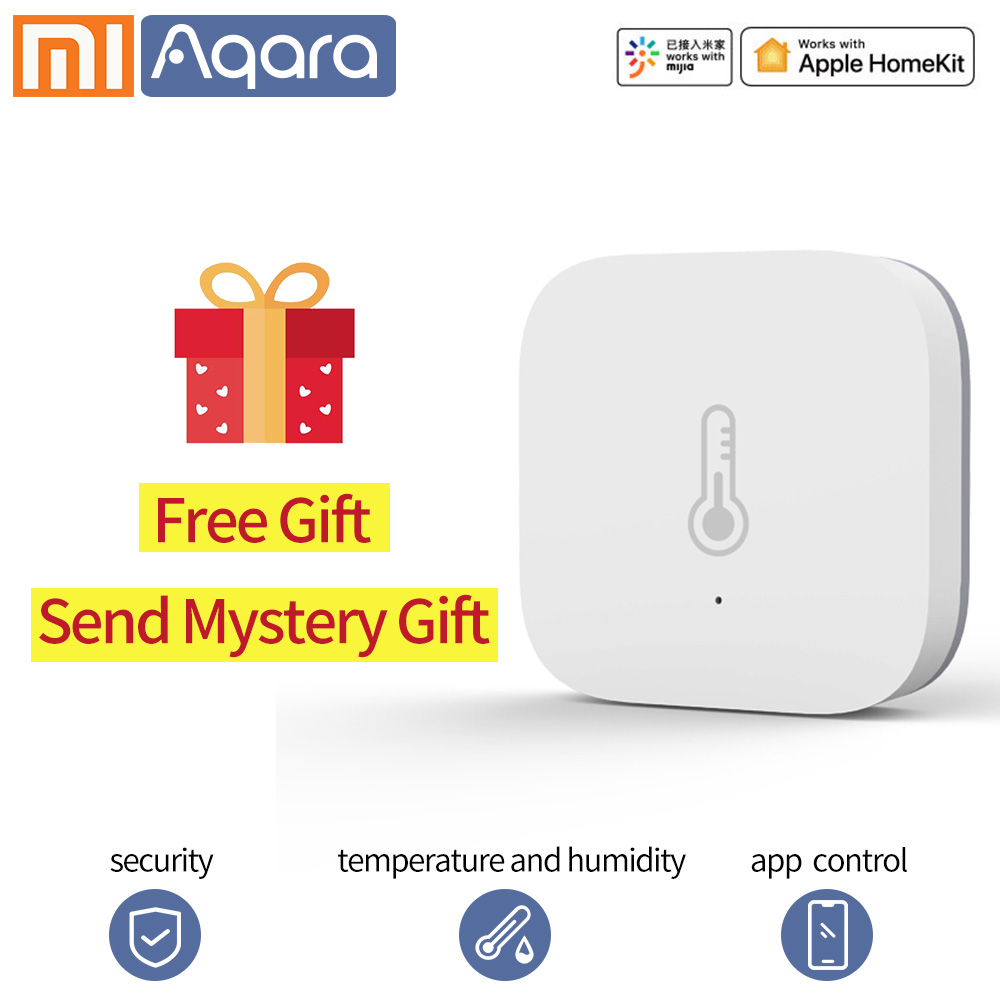 Aqara Smart Temperature Sensor Wifi Thermostat Xiaomi Smart Home Air Pressure Temperature Humidity Zigbee Sensor Mi Home App