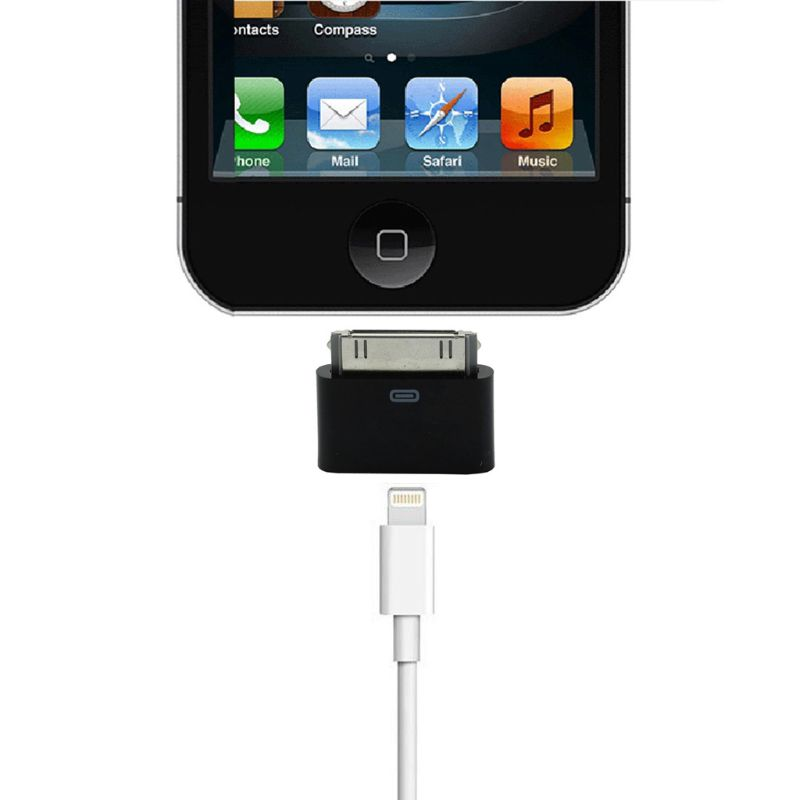 Drop Ship 8pin Female To 30pin Male Adapter Converter For IPhone4 4S IPad 2 3 IPod Touch 4