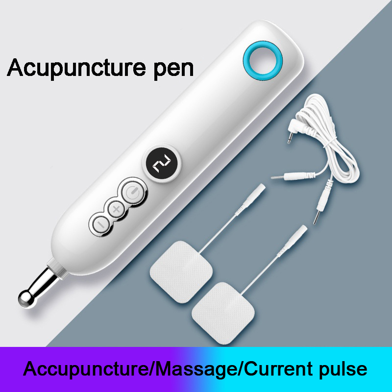Electronic Acupunctures Pen Massage Electronic Pulse Multifunction Acupoint Physical Therapy Massage Pen Pain Relief Tools