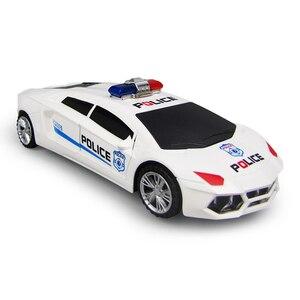 Image 4 - 360 degrés roues rotatives Cool éclairage musique enfants voitures de Police électroniques jouet début jouets éducatifs pour bébé garçons enfants cadeaux