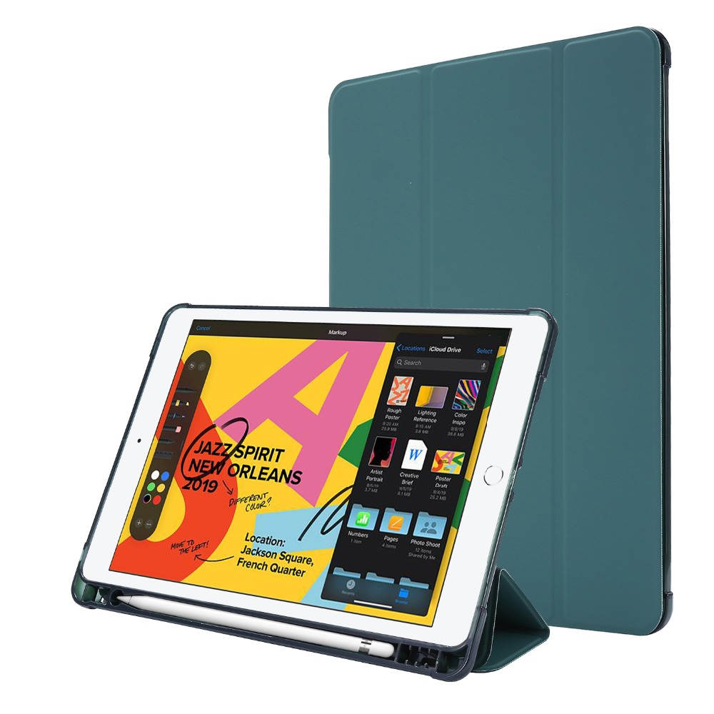 with for iPad Folding-Cover Pencil-Holder 7th-Generation-Case 10-2-Case Light-Color Funda