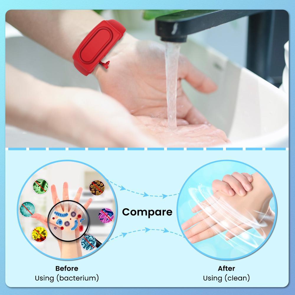Wristbands Hand Sanitizer Dispensing Portable Bracelet Wristband Hand Dispenser Outdoor Wearable Hand Sanitizer Dispenser Pumps