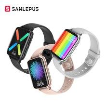 SANLEPUS ساعة متصلة للرجال والنساء ، مقاومة للماء ، مع مشغل MP3 ، بلوتوث ، للمكالمات ، لأجهزة OPPO و Android و Apple و Xiaomi و Huawei ، جديد لعام 2021