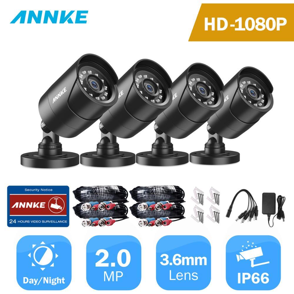ANÃO 1080P TVI IP66 4pcs 2MP Kit Bala Ao Ar Livre Câmera de Segurança À Prova de Intempéries Habitação 66ft Super Visão Noturna Inteligente cam CCTV IR