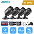 ANNKE 1080P TVI камера безопасности 4 шт. 2MP Пуля комплект Открытый IP66 водонепроницаемый корпус 66ft супер ночное видение Смарт ИК CCTV Cam