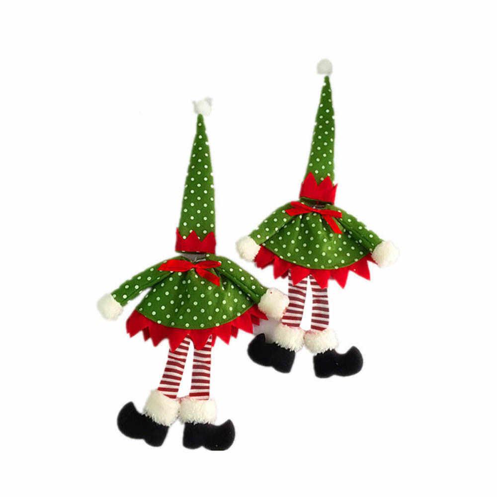 Di natale Noel Nativo Kerst Di Natale 2019 Decorazioni Per La Casa del Nuovo Puntino di Polka Copertura Della Bottiglia di Vino Borse Per La Decorazione Di Natale #37