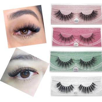 YioWio 5D Mink Eyelashes Lashes Cross Thick Messy Natural False Eyelashes Faux Cils Reusable Makeup Fluffy Fake Lashes Maquiagem 1