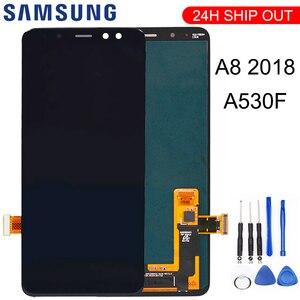 For Samsung Galaxy A8 2018 A530 A530F A530DS A530N SM-A530N Touch Screen Digitizer LCD Display Assembly + Tools(China)