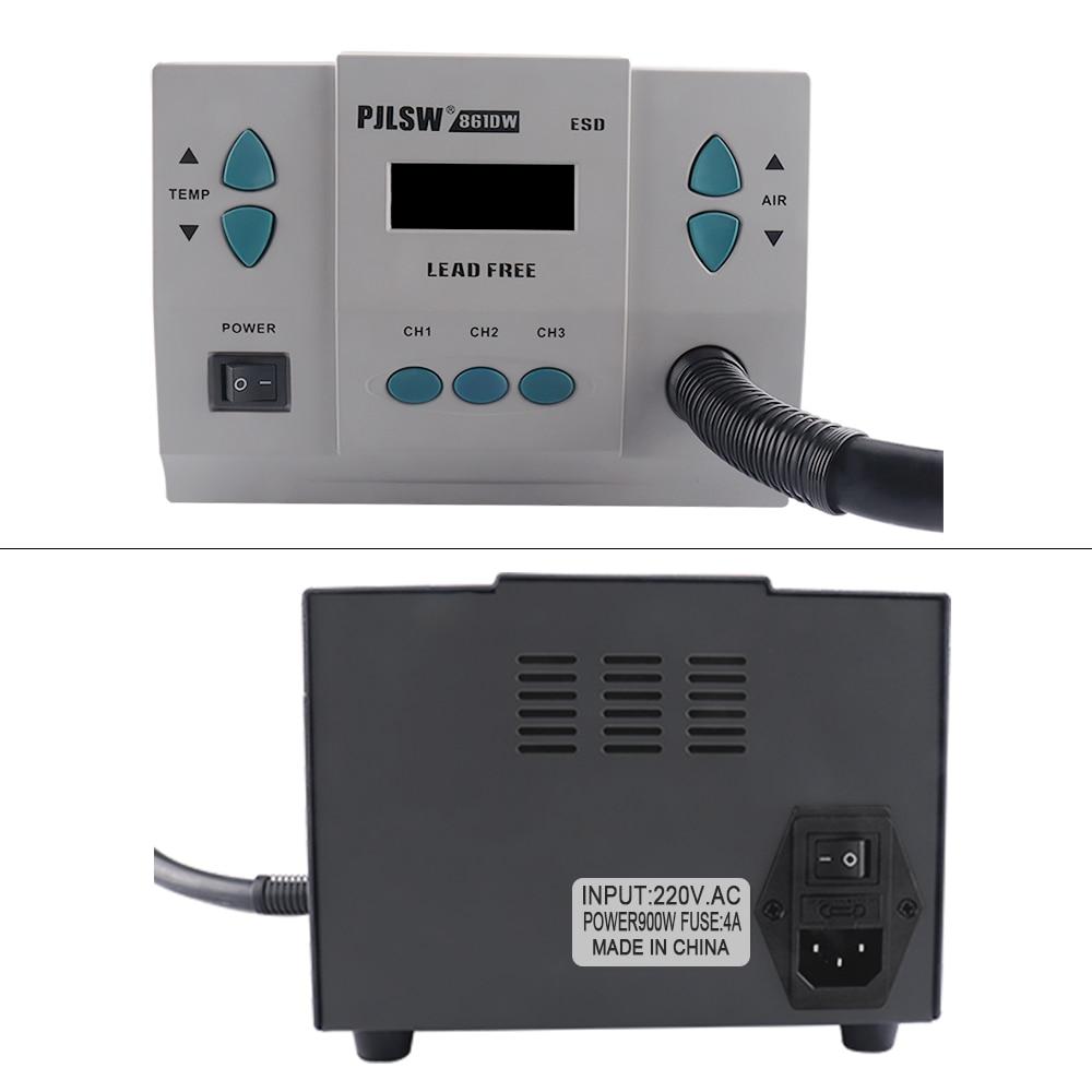 home improvement : PJLSW 861DW 900W 110V-120V lead-free hot air gun soldering station Intelligent digital displayrework station For PCB chip repair