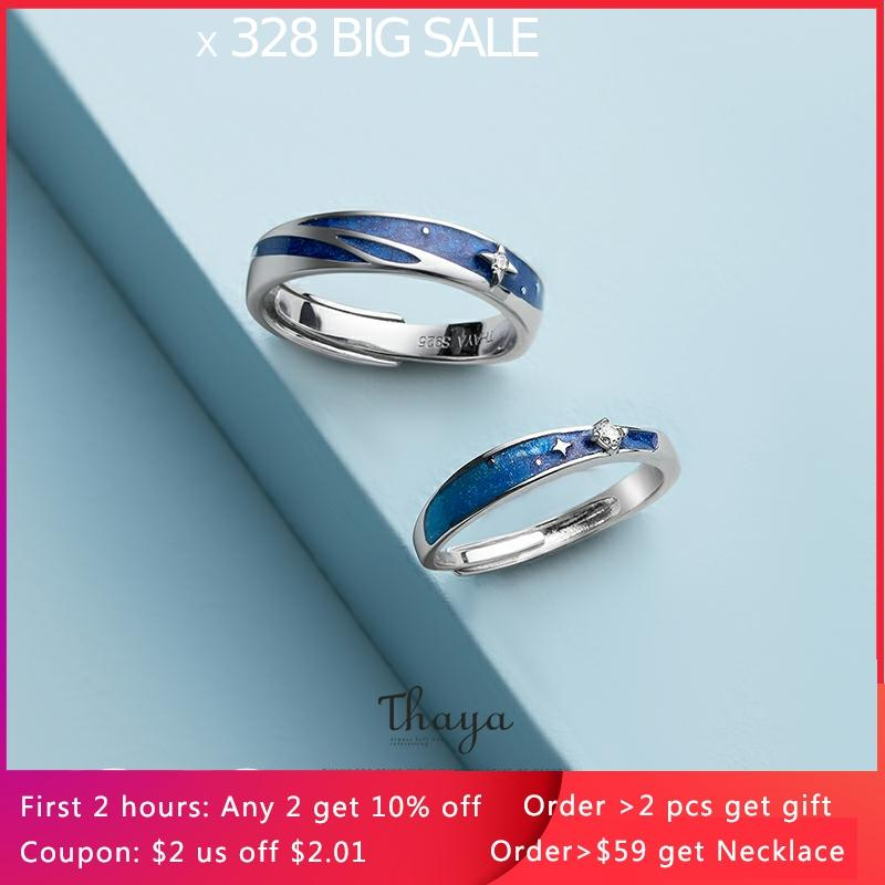 Thaya Original Design s925 Sterling Silver Nebula Rings Couple Fashion Rings For Women Elegant Fine Jewelry