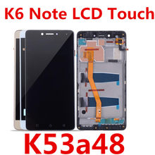 LCD Screen Mobile Phone and Digitizer Full Assembly with Frame for 5.5 inch Lenovo K6 Note K53a48 Black Color : White