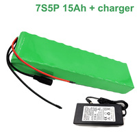 24V 15Ah 25.9V 7S5P 18650 Li-ion Battery Pack E-Bike electric bicycle With charger