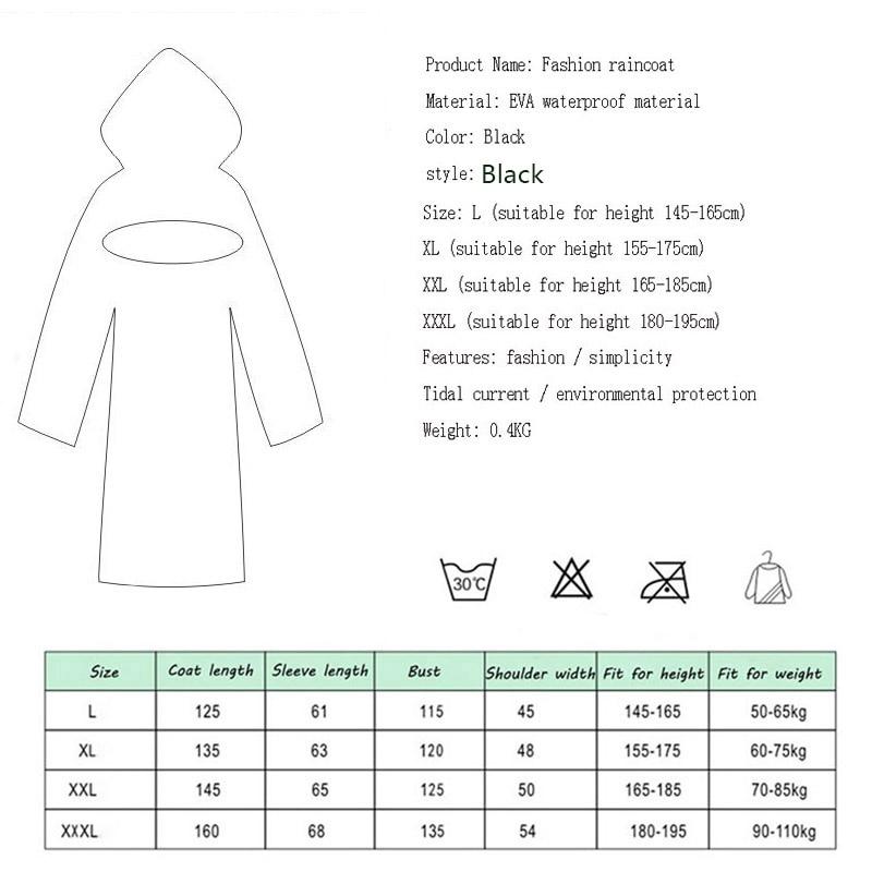 Image 2 - EVA Women Raincoat Rainwear Men Rain Coat Impermeable Capa de Chuva Chubasquero Poncho Japan Waterproof Rain Cape Cover HoodedRaincoats   -