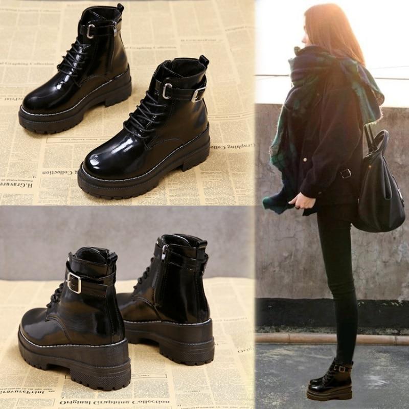 Women's Flat Platform Ankle Boots