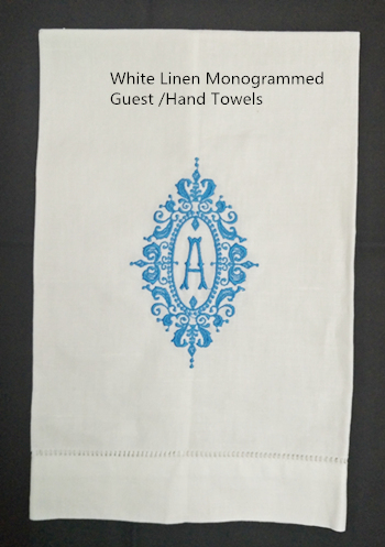 Set Of 12 Fashion Guest Towels Hemstitch Monogrammed Tea Towel 14X22-inch Cleaning Cloth Guest Hand Dish Kitchen Bathroom Towels