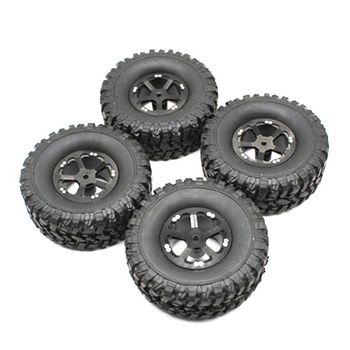 4 Pcs Upgrade Rubber Tires Wheels Spare Parts for WPL 1/16 B14 B16 B24 B36 C14 C24 RC Car Truck 634F metal op fitting accessories spare parts for 1 16 wpl b14 b16 b24 c14 c24 b36 rc truck