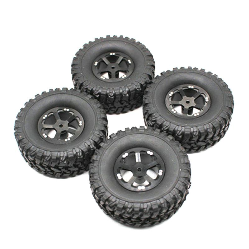 4 Pcs Upgrade Rubber Tires <font><b>Wheels</b></font> Spare Parts for WPL 1/16 B14 B16 B24 B36 C14 C24 <font><b>RC</b></font> Car Truck 634F image