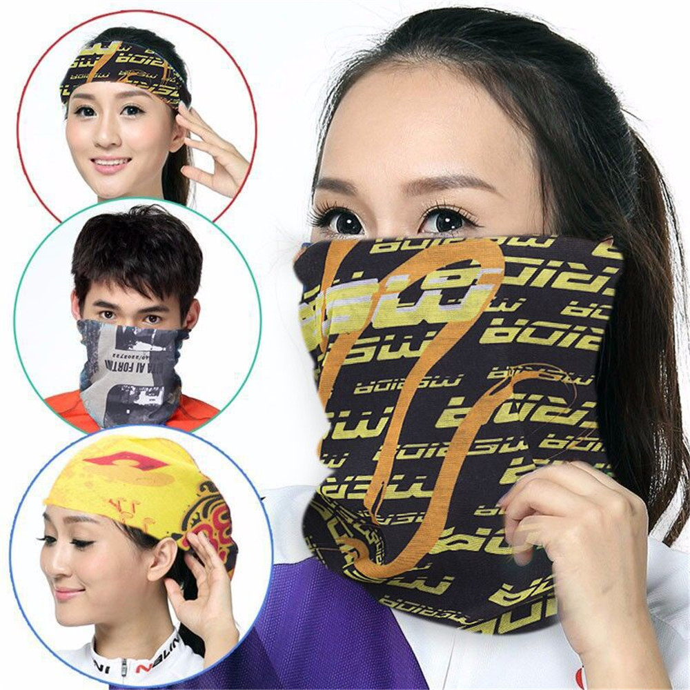 High Elastic Hiking Scarf Sports Bandana Head Scarves Outdoor Camping Neck Scarf Riding Fashion Mask Sun Protection Bandanas