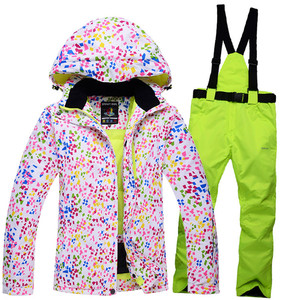 Image 2 - New Thick Warm Womens Skiing and Snowboarding Jacket Pants Set Waterproof Windproof Ski Suit Female Snow Costumes Outdoor Wear