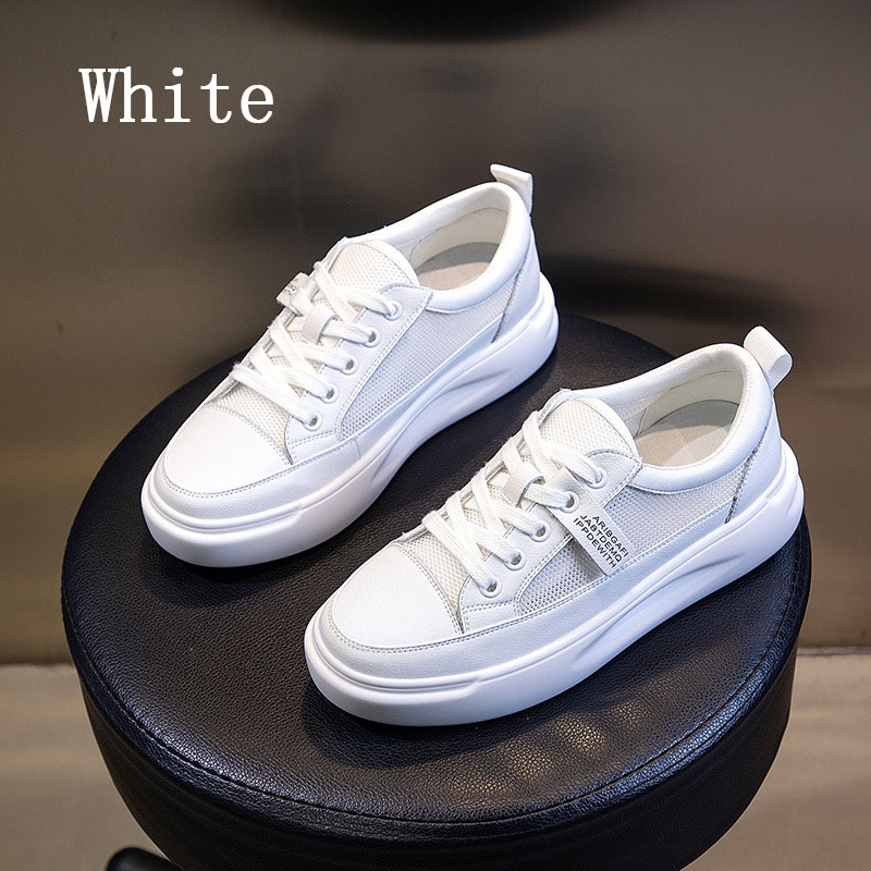 Big Size Women Sneakers Autumn Leather Light White Sneaker Female Platform Vulcanized Shoes Spring Casual Breathable Sports Shoe 14