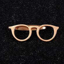 Creative Glasses Tie Clip Vintage Tie Cuffs Formal Business Alloy Gold Tie Clip for Men Fashion Suits Shirt Accessories stylish solid color mustache shape alloy tie clip for men