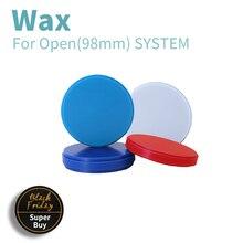 8 ชิ้น/ล็อต 98 มม.CAD/CAM Machinable ดิสก์ทันตกรรม WAX Blocks ความหนา 10 25 มม.