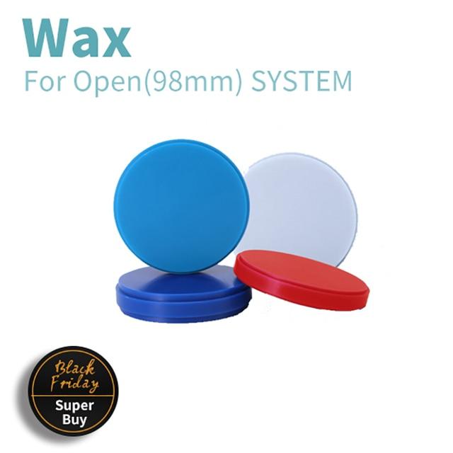 8 adet/grup 98mm CAD/CAM işlenebilir diskler diş balmumu blokları kalınlığı 10 25mm