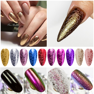 Gold Soap Foam Nail Glitter for UV Gel Polish Rose Gold Silver Mirror Powder Nails Bubble Chrome Nail Art Decorations Dust(China)