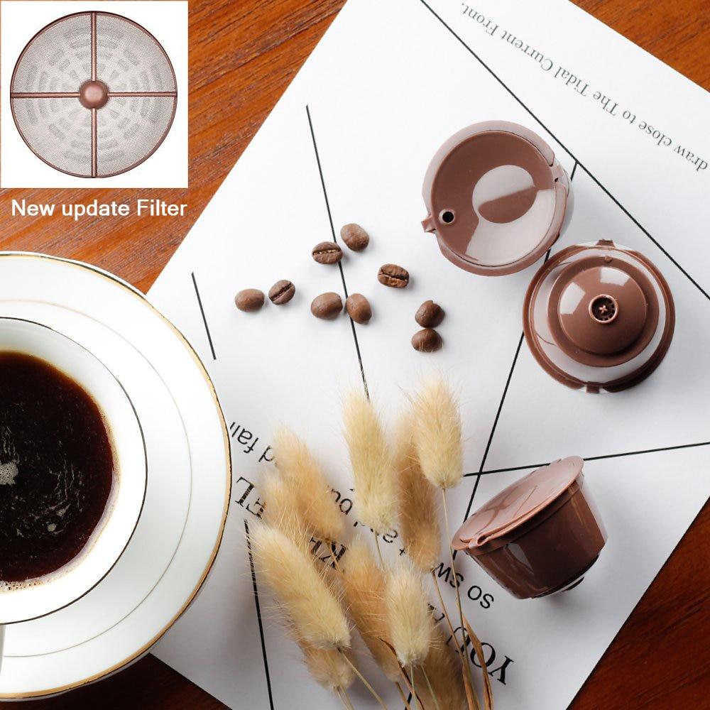 Dripper Crema Update แคปซูลกาแฟสแตนเลสกรองสำหรับ Dolce Gusto Cafeteira ที่สามารถนำกลับมาใช้ใหม่ถ้วยกาแฟตะกร้า